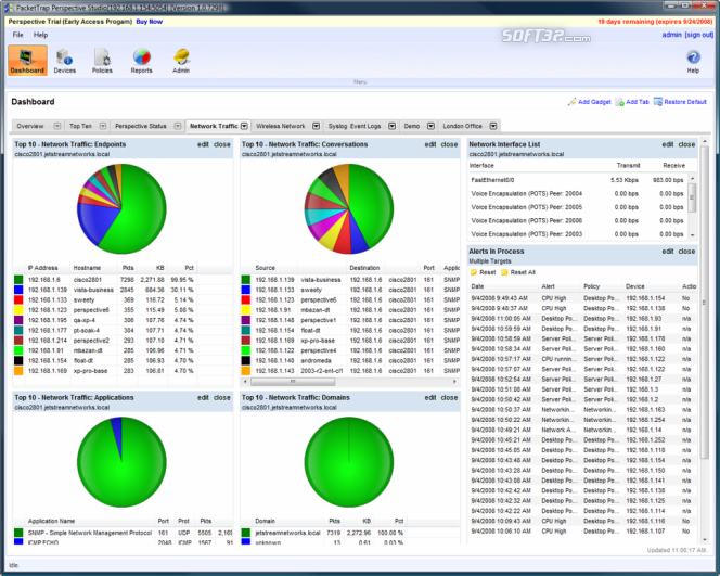 Perspective Network Management System Screenshot 2