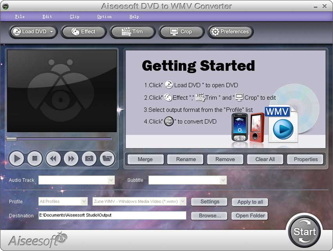 Aiseesoft DVD to WMV Converter Screenshot 1