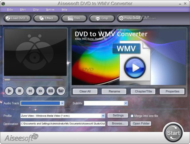 Aiseesoft DVD to WMV Converter Screenshot 3