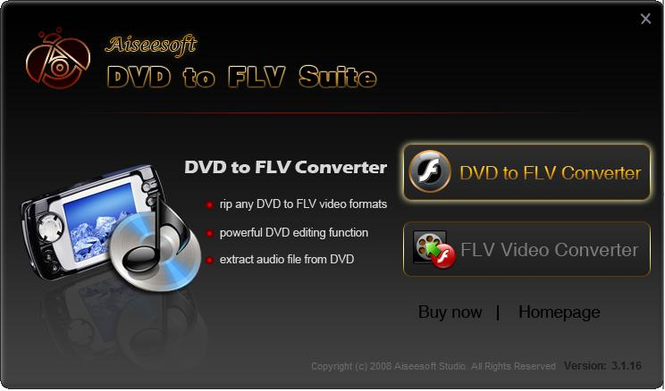 Aiseesoft DVD to FLV Suite Screenshot