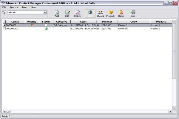 Advanced Contact Manager Enterprise Screenshot 1