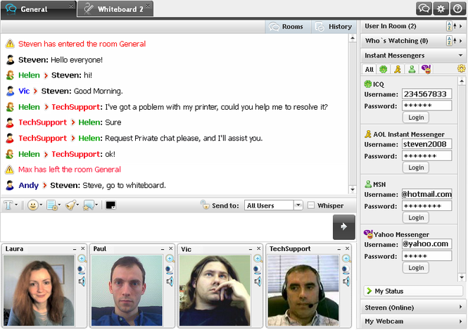 Corporate Chat Screenshot