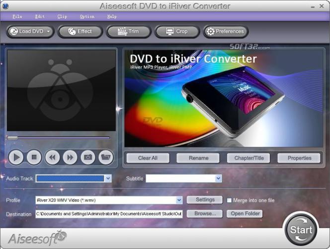 Aiseesoft DVD to iRiver Converter Screenshot 3
