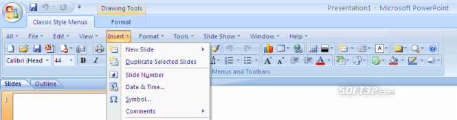 Classic Style Menus for PowerPoint 2007 Screenshot 3