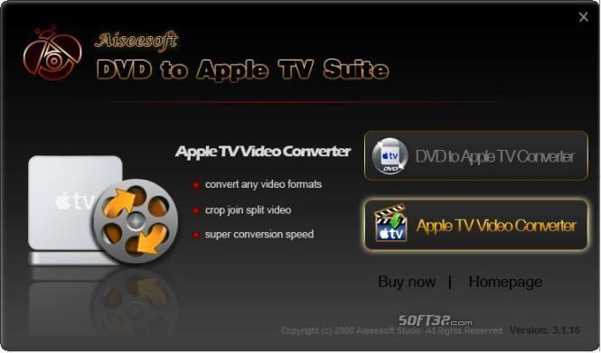 Aiseesoft DVD to Apple TV Suite Screenshot 3