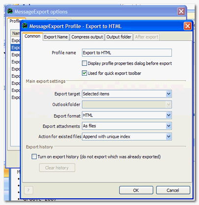 MessageExport for Outlook Screenshot 1