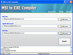 MSI to EXE Compiler Screenshot