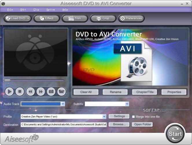 Aiseesoft DVD to AVI Converter Screenshot 3