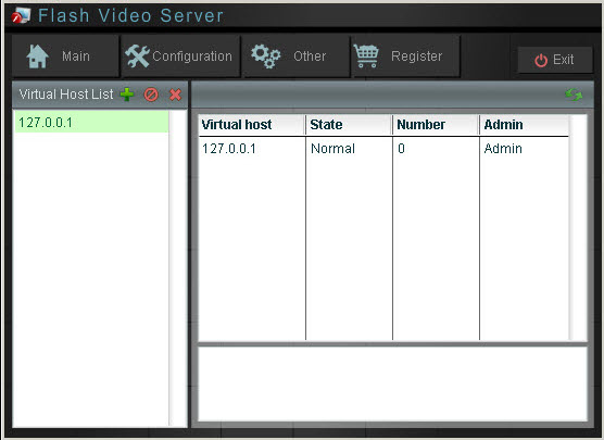 Moyea Flash Video Server Screenshot 1