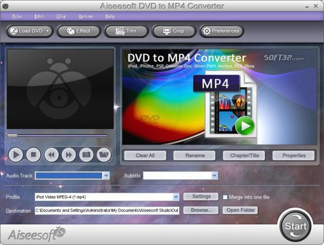 Aiseesoft DVD to MP4 Converter Screenshot 3