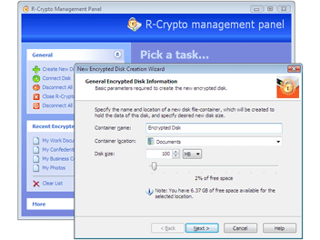 R-Crypto Disk Security Screenshot