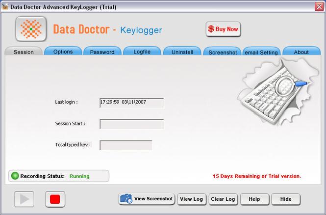 Advance Keylogger Software Ex Screenshot