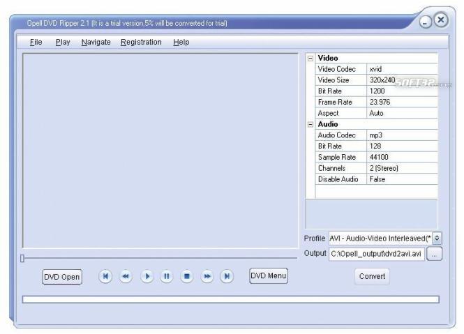 Opell DVD to iPhone Converter Screenshot 2