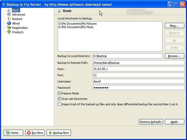 Backup to Ftp Server Screenshot 2