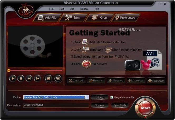 Aiseesoft AVI Video Converter Screenshot 2