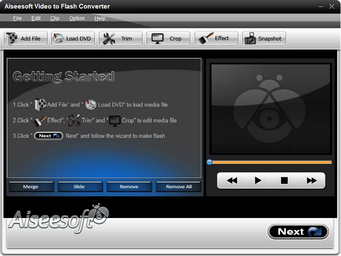 Aiseesoft Video to Flash Converter Screenshot