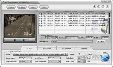Alldj DVD To iPhone iPod Apple-TV Ripper Screenshot 3