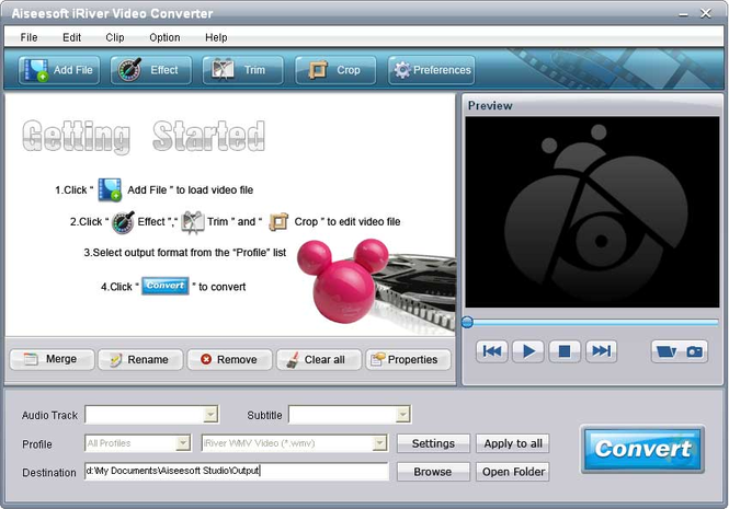 Aiseesoft iRiver Video Converter Screenshot