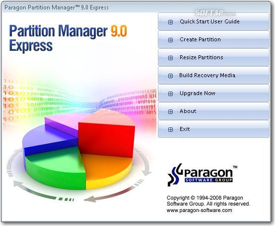 Paragon Partition Manager Express Screenshot