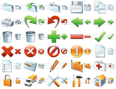 Standard Software Icons Screenshot