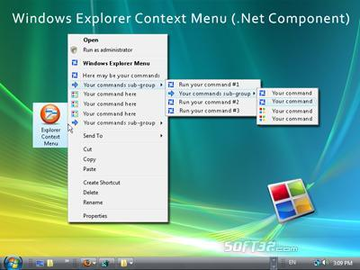 Windows Explorer Shell Context Menu (.NET Component) Screenshot 3