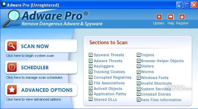 Adware Pro Site Screenshot