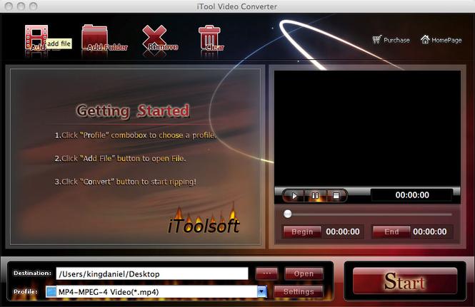 iTool Video Converter for MAC Screenshot 1