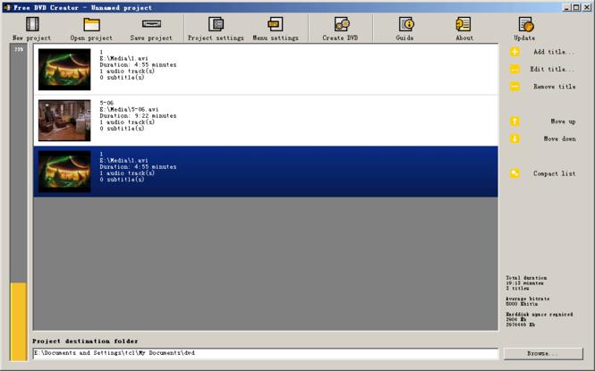 Free DVD Creator Screenshot
