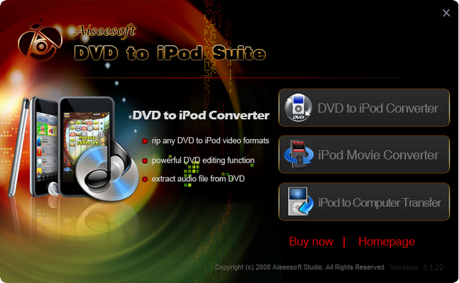 Aiseesoft DVD to iPod Suite Screenshot 1