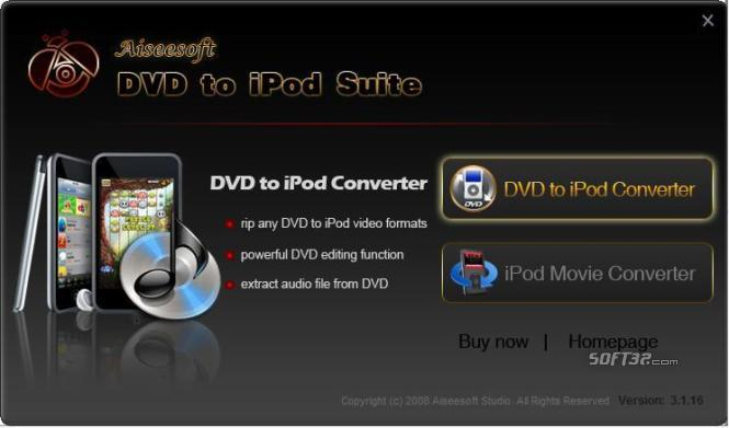 Aiseesoft DVD to iPod Suite Screenshot 2