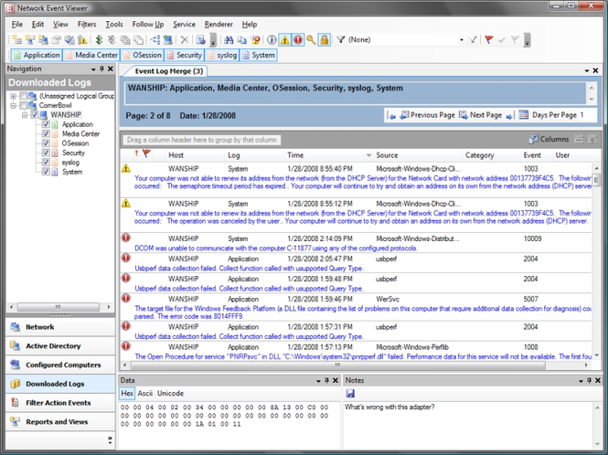Network Event Viewer Screenshot 1