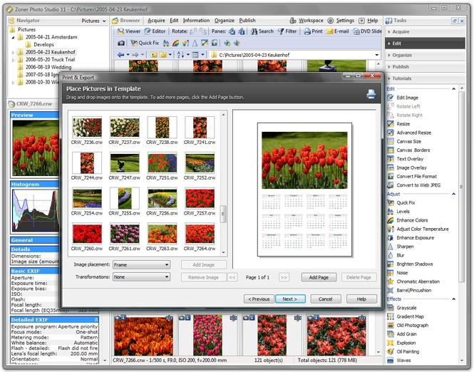 Zoner Photo Studio Home Screenshot