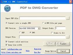 PDF to DWG Converter (PDF to DXF) Screenshot 2