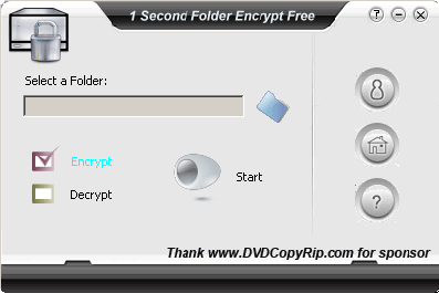 1 Second Folder Encrypt Free Screenshot