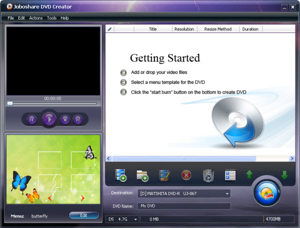 Joboshare DVD Creator Screenshot