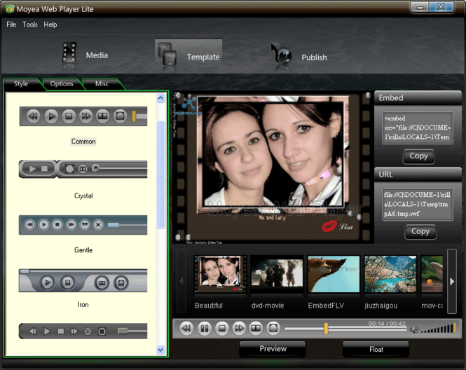Moyea Web Player Lite Screenshot