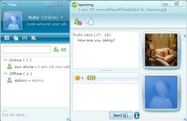 Flea IM-AJAX Driven Web Instant Messenger Screenshot