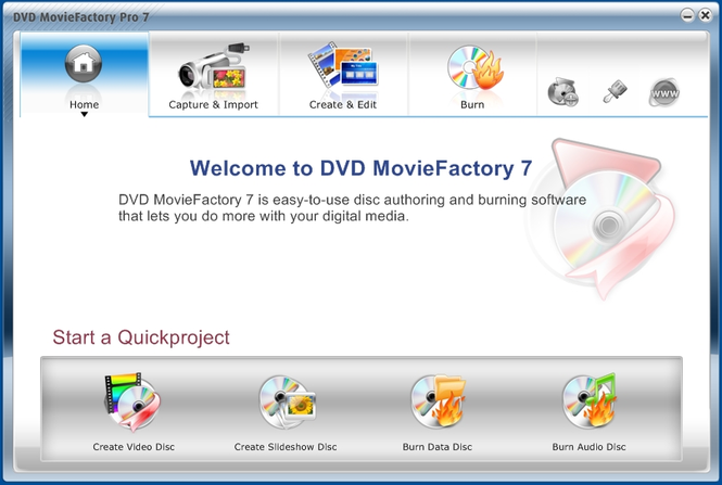Corel DVD MovieFactory Pro Screenshot