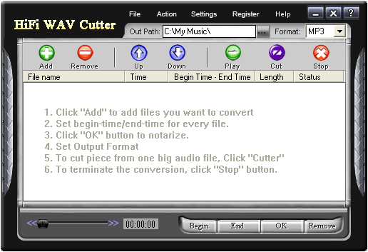 HiFi WAV Cutter Screenshot 1