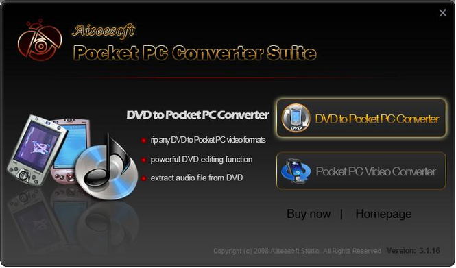 Aiseesoft Pocket PC Converter Suite Screenshot 1