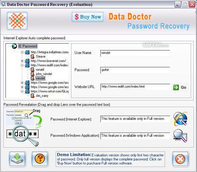 IE Passwords Unmask Software Screenshot 3