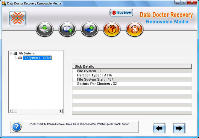 Digital Storage Data Recovery Software Screenshot 1
