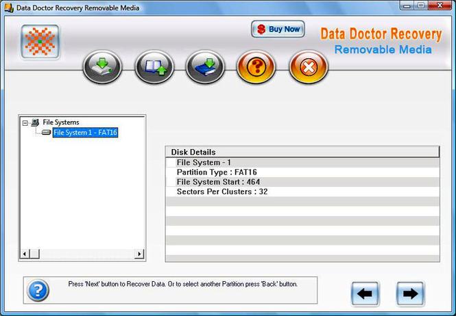 Digital Storage Data Recovery Software Screenshot