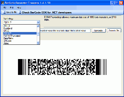 Bytescout BarCode Generator Screenshot