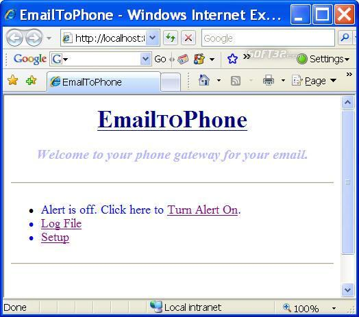 EmailToPhone Screenshot 3