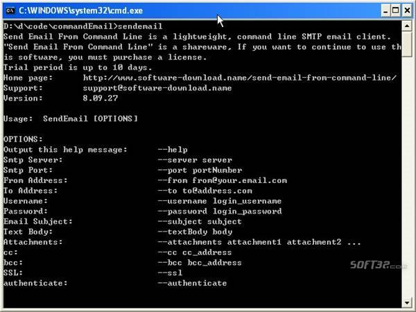 Send Email From Command Line Screenshot 3
