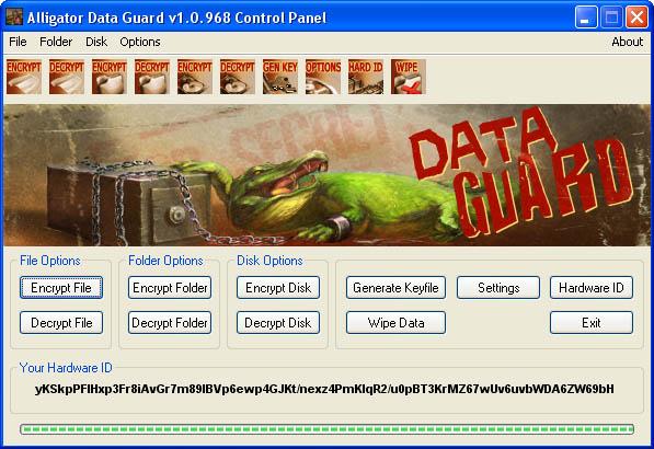 Alligator Data Guard Screenshot