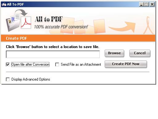PDF-File All To PDF Converter Screenshot