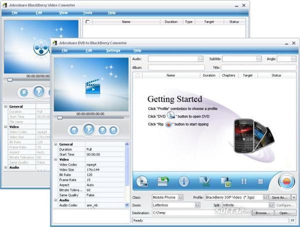 Joboshare DVD to BlackBerry Bundle Screenshot 3
