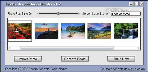 FoxArc Screen Saver Builder Screenshot 2